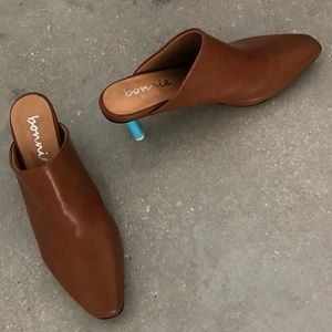 Shoes - Slip On Mules with Lighter Heel